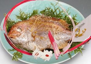 お祝い用 鯛の塩焼き