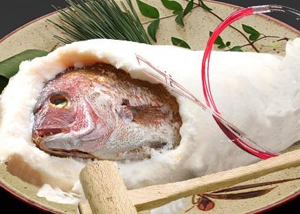 お祝い用 鯛の塩釜焼き